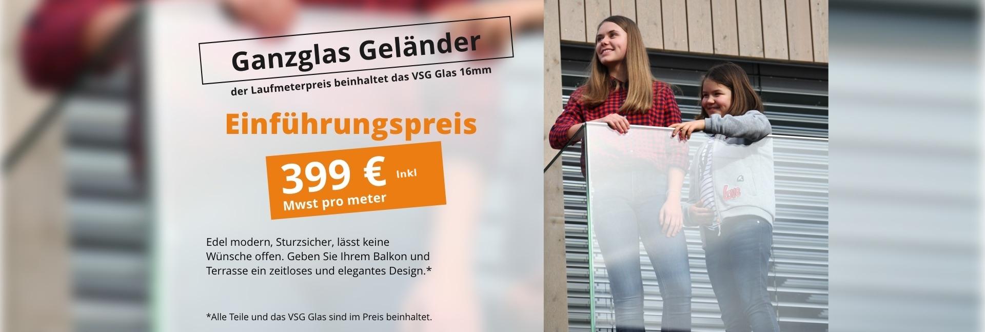 GELÄNDER MIT ACRYLGLAS